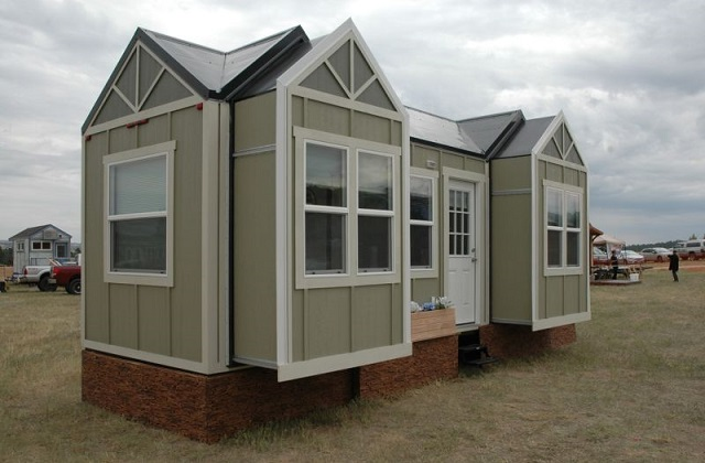 Uma mini-casa que se expande com um clique