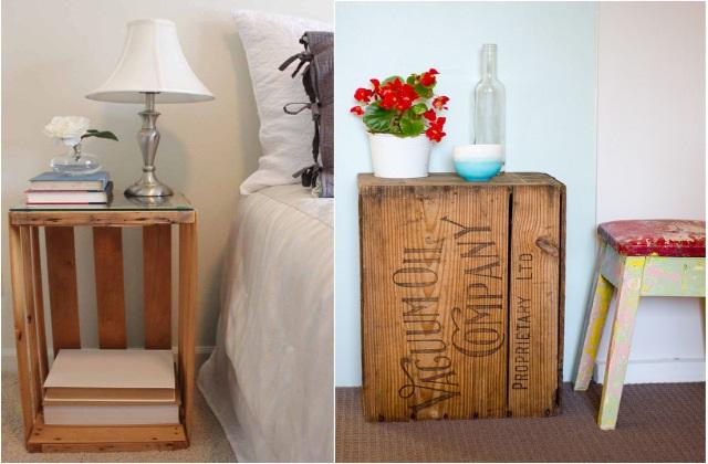 Uma mesa de cabeceira para cada estilo, idéias faça você mesmo