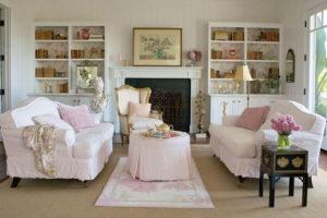 Como mobiliar sua sala de estar em estilo Shabby Chic