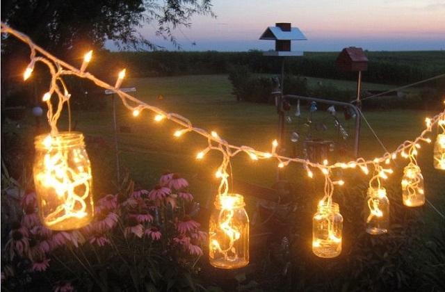 Decorando com lâmpadas