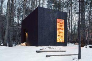 Uma biblioteca no meio do bosque