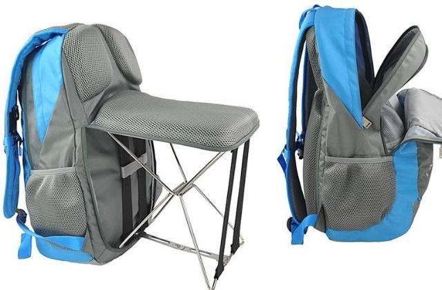 A mochila com assento embutido