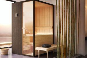Banheiro com ducha, sauna e banho turco para um relaxamento total