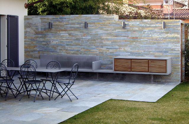 Decorar o jardim com um muro de pedra r pido e f cil for Decorar muro jardin