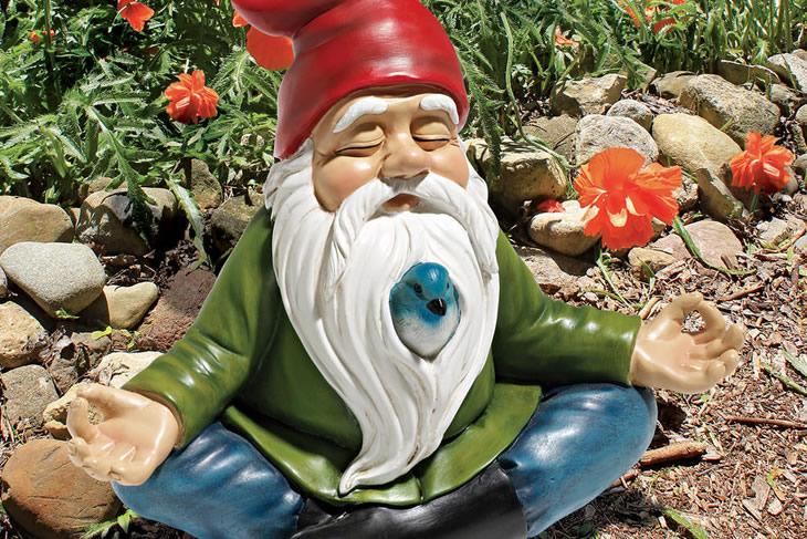 O gnomo do jardim na versão zen