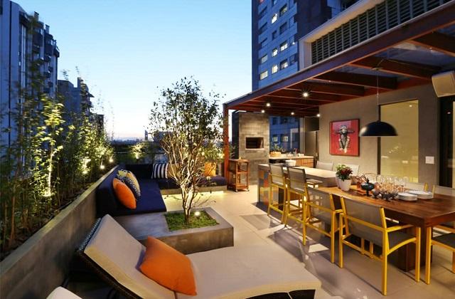 Acessórios originais para um terraço moderno