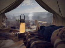 GuideLight: luminária para acampamento bonita e confortável
