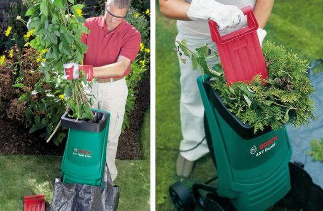 O biotriturador da Bosch para eliminar o descartes do jardim