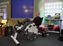 Eletricidade grátis pedalando 1 hora!