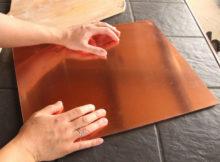 Placas de cobre para o fogão