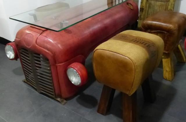 Trat- mesa: uma mesa especial obtida de um trator