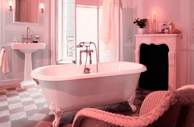 A decoração de um banheiro rosa: romancismo, mas não é só isso
