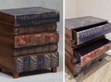 Um gaveteiro livro adequada para aqueles que não podem ficar sem livros